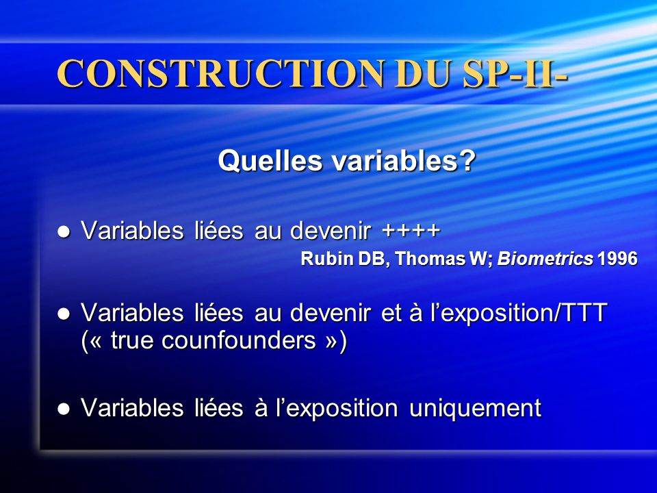 CONSTRUCTION DU SP-II-