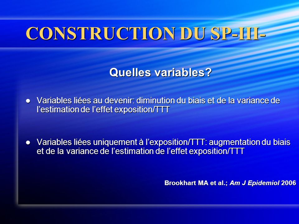 CONSTRUCTION DU SP-III-