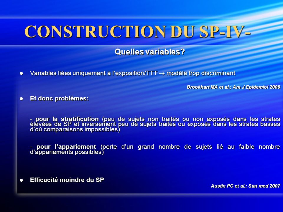 CONSTRUCTION DU SP-IV-