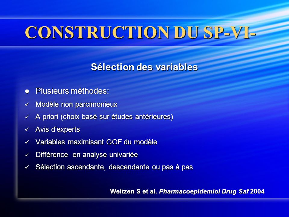CONSTRUCTION DU SP-VI-