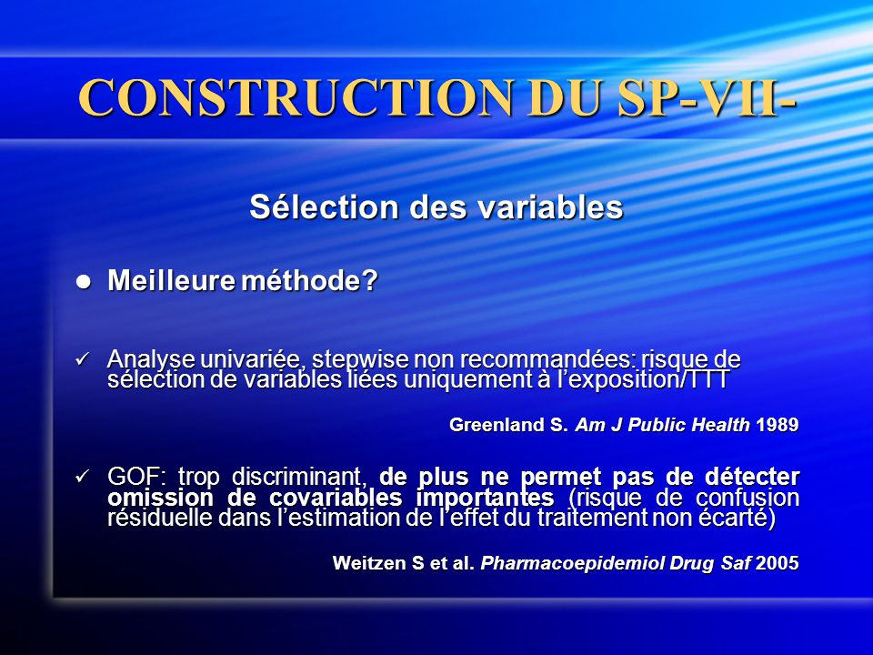 CONSTRUCTION DU SP-VII-