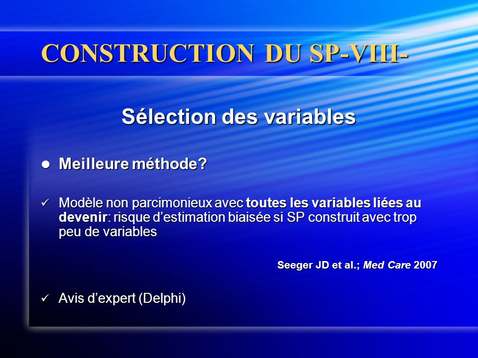 CONSTRUCTION DU SP-VIII-