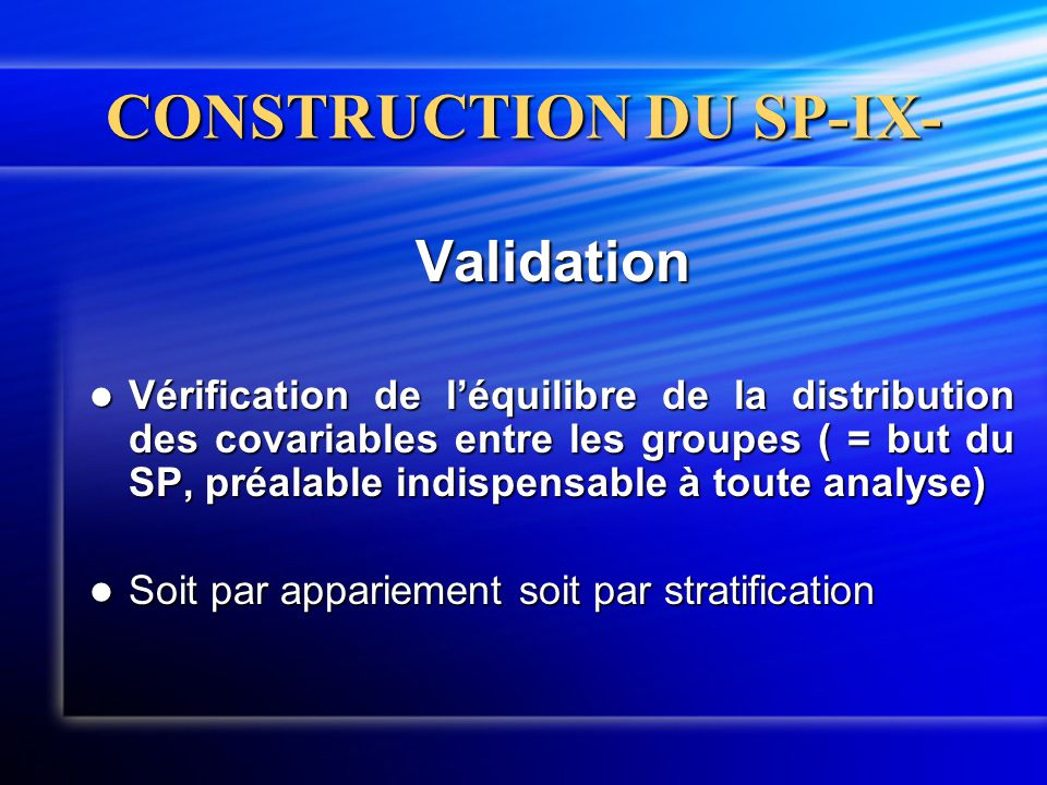 CONSTRUCTION DU SP-IX-