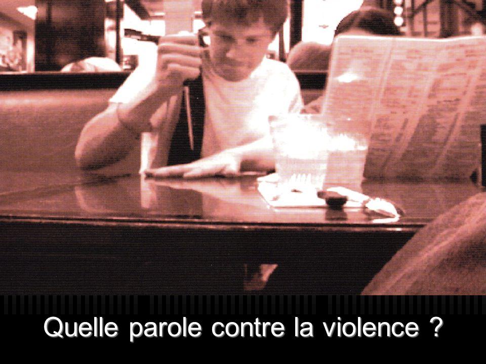 Quelle parole contre la violence