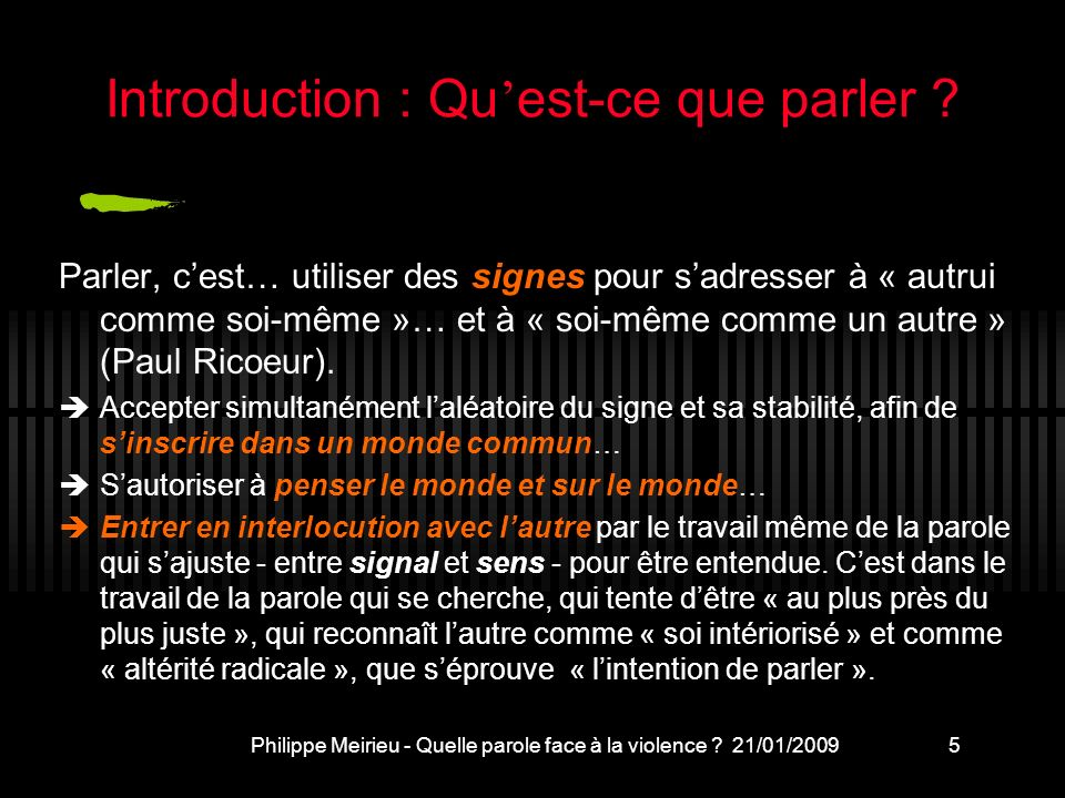 Introduction : Qu'est-ce que parler