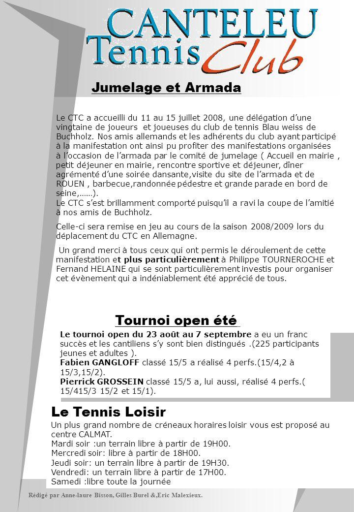 Jumelage et Armada Tournoi open été Le Tennis Loisir
