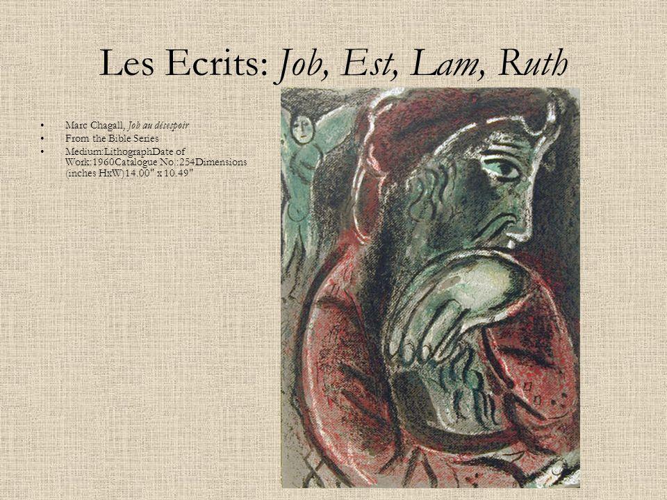 Les Ecrits: Job, Est, Lam, Ruth
