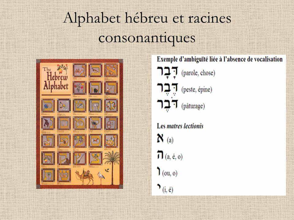 Alphabet hébreu et racines consonantiques