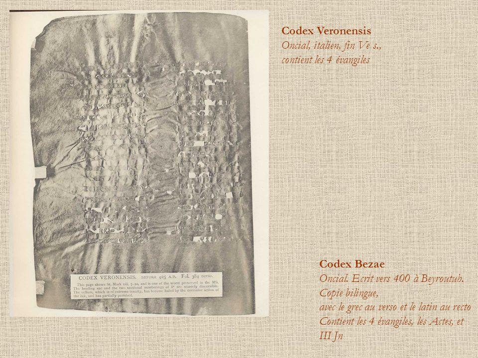 Codex Veronensis Oncial, italien, fin Ve s.,