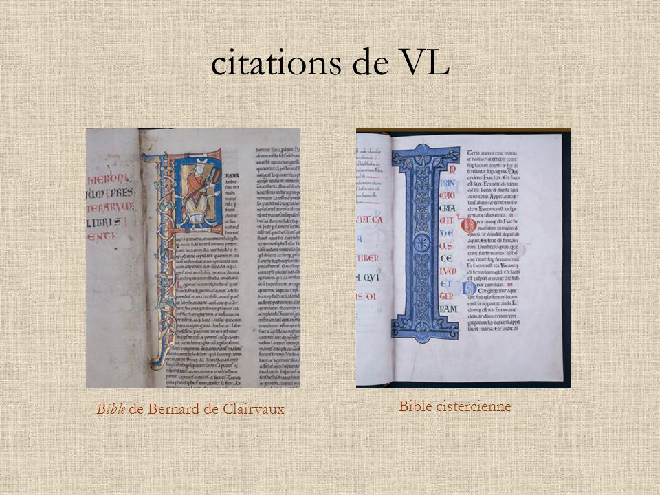 citations de VL Bible de Bernard de Clairvaux Bible cistercienne