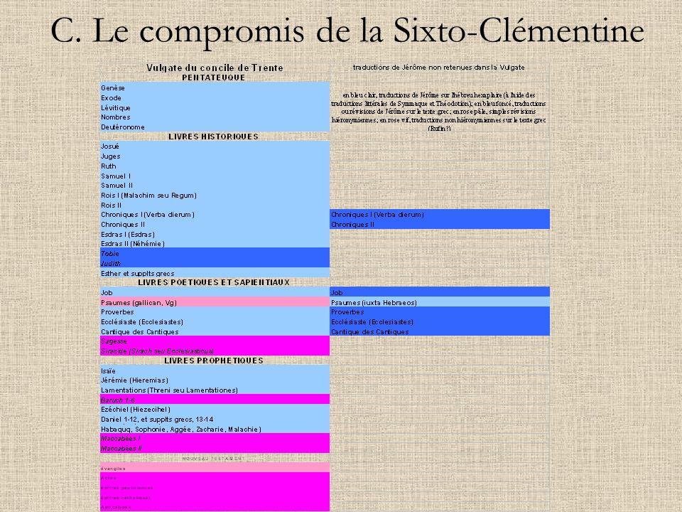 C. Le compromis de la Sixto-Clémentine