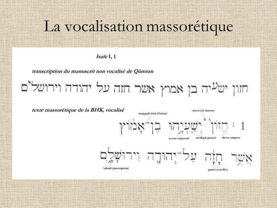 La vocalisation massorétique