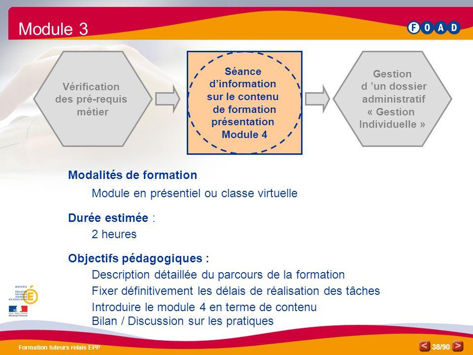 Module 3 Modalités de formation