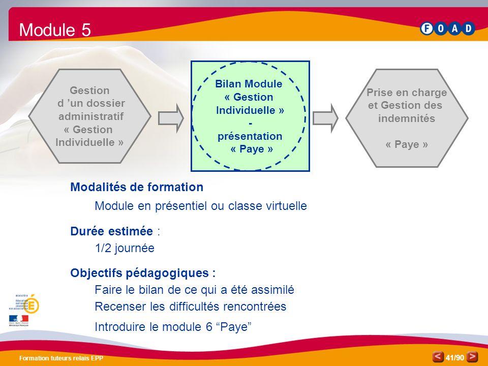 Module 5 Modalités de formation
