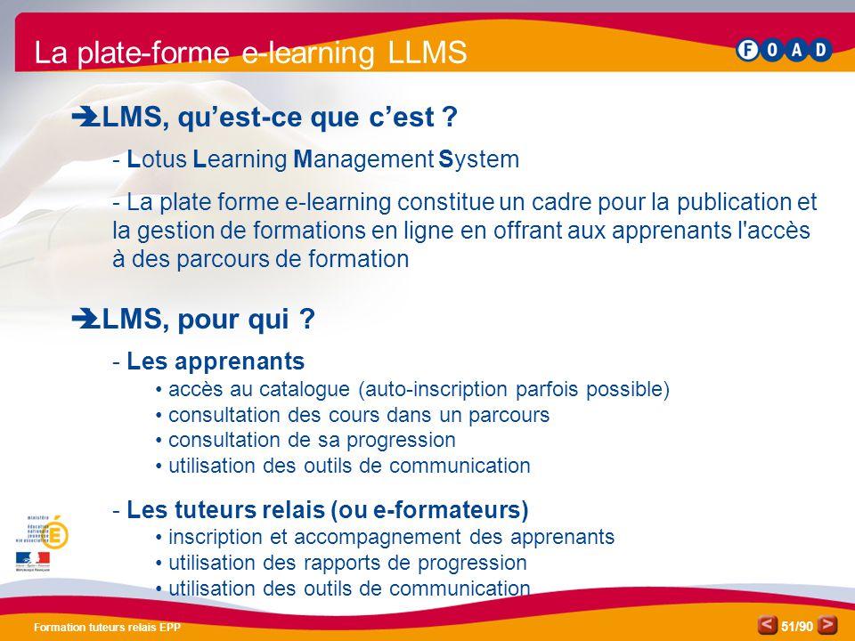 La plate-forme e-learning LLMS