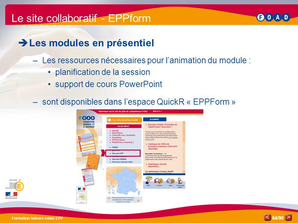Le site collaboratif - EPPform
