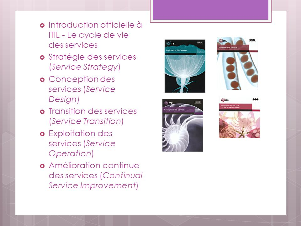 Introduction officielle à ITIL - Le cycle de vie des services
