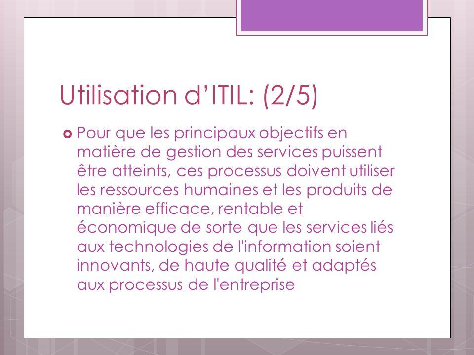 Utilisation d'ITIL: (2/5)