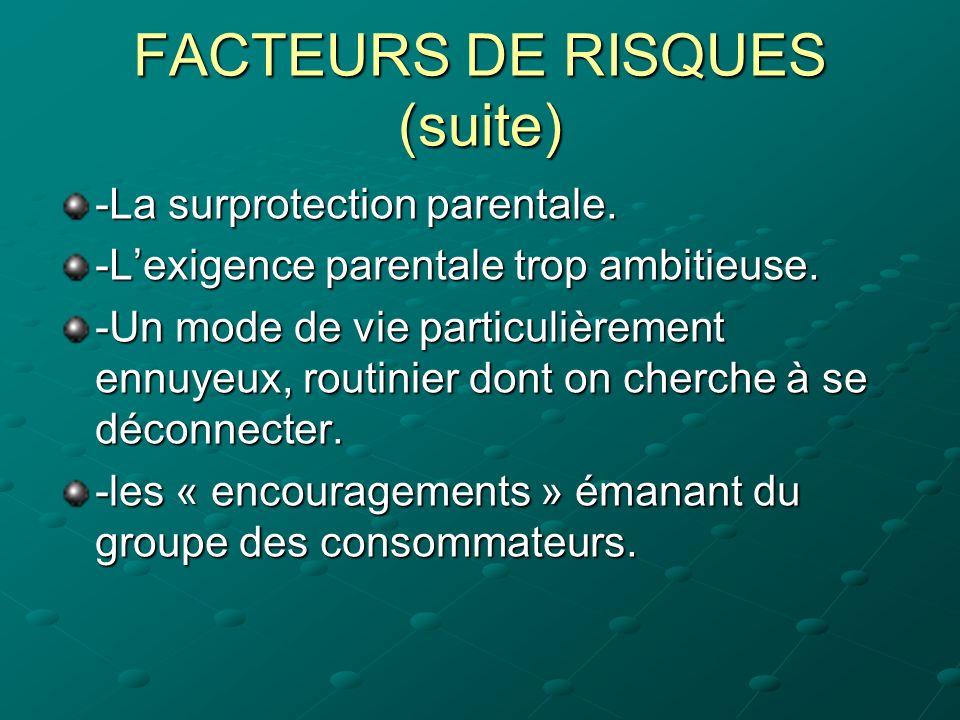 FACTEURS DE RISQUES (suite)