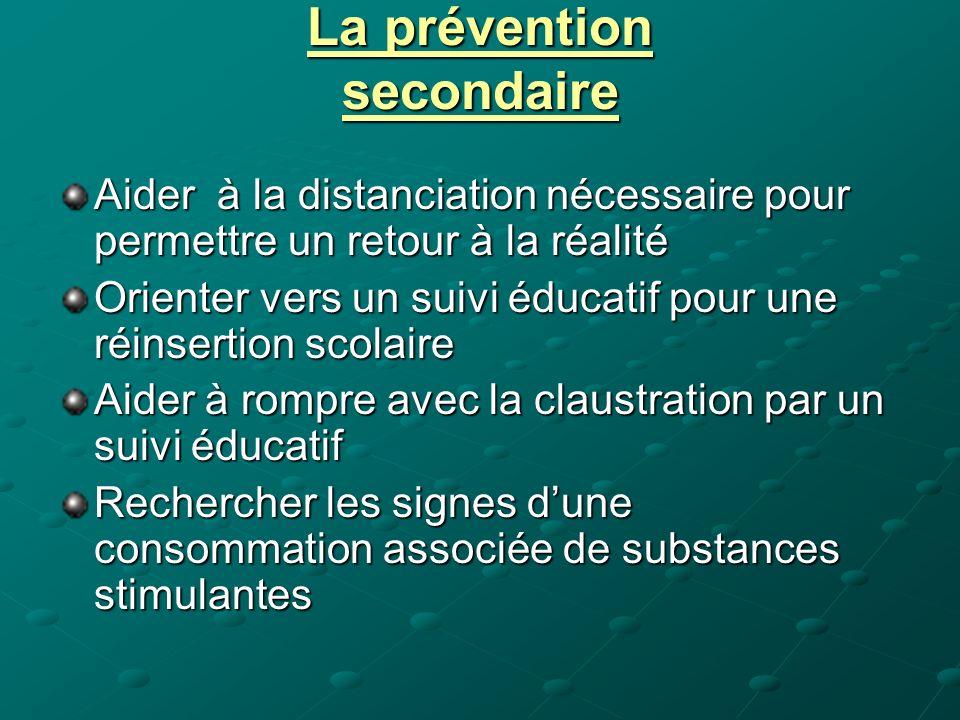 La prévention secondaire