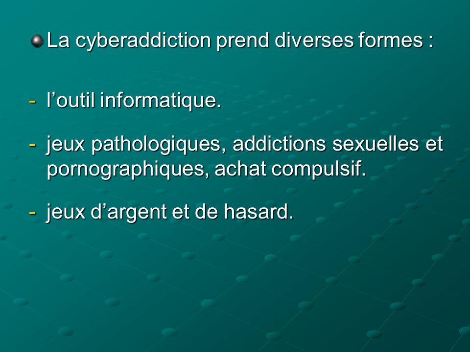 La cyberaddiction prend diverses formes :