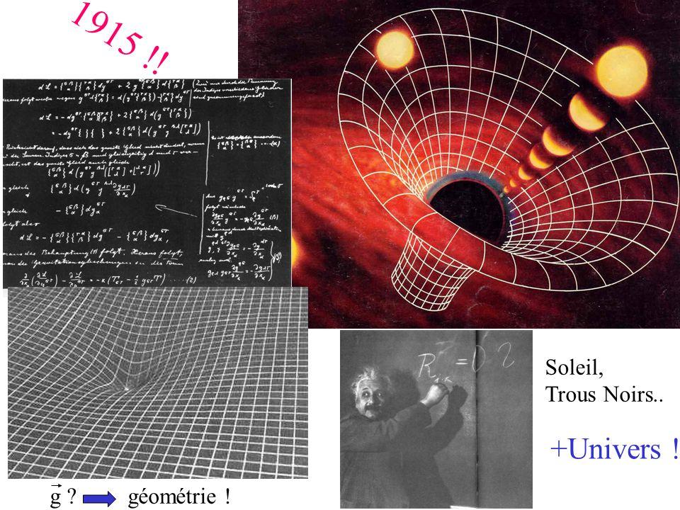 1915 !! Soleil, Trous Noirs.. +Univers ! g géométrie !