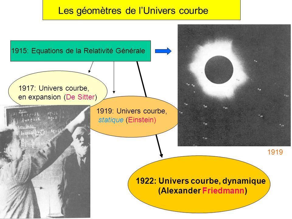 Les géomètres de l'Univers courbe