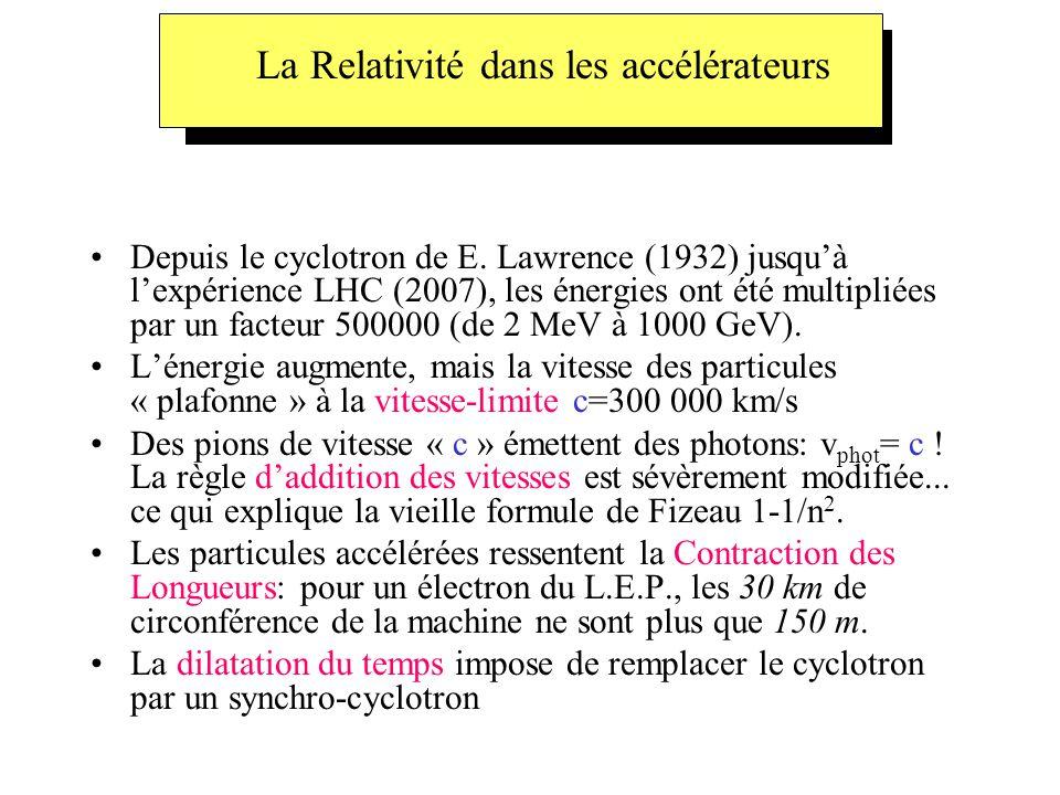 La Relativité dans les accélérateurs