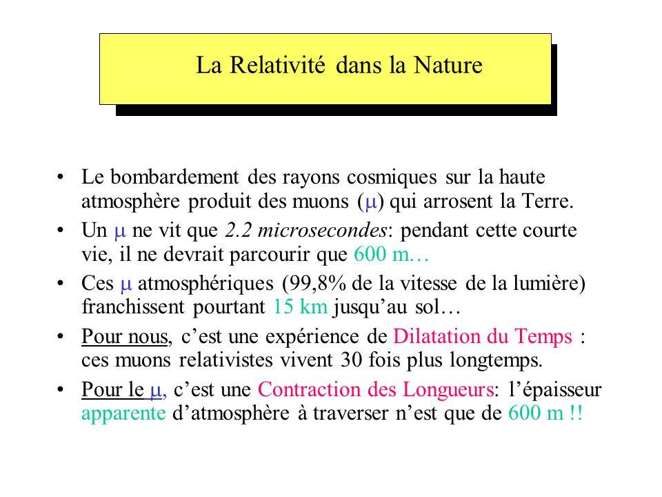 La Relativité dans la Nature