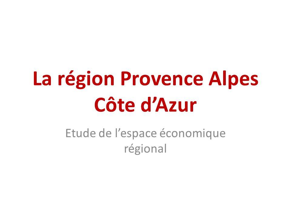 La région Provence Alpes Côte d'Azur