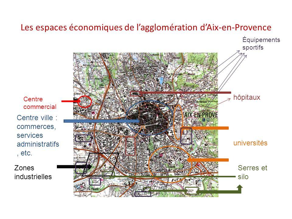 Les espaces économiques de l'agglomération d'Aix-en-Provence