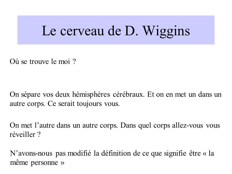 Le cerveau de D. Wiggins Où se trouve le moi