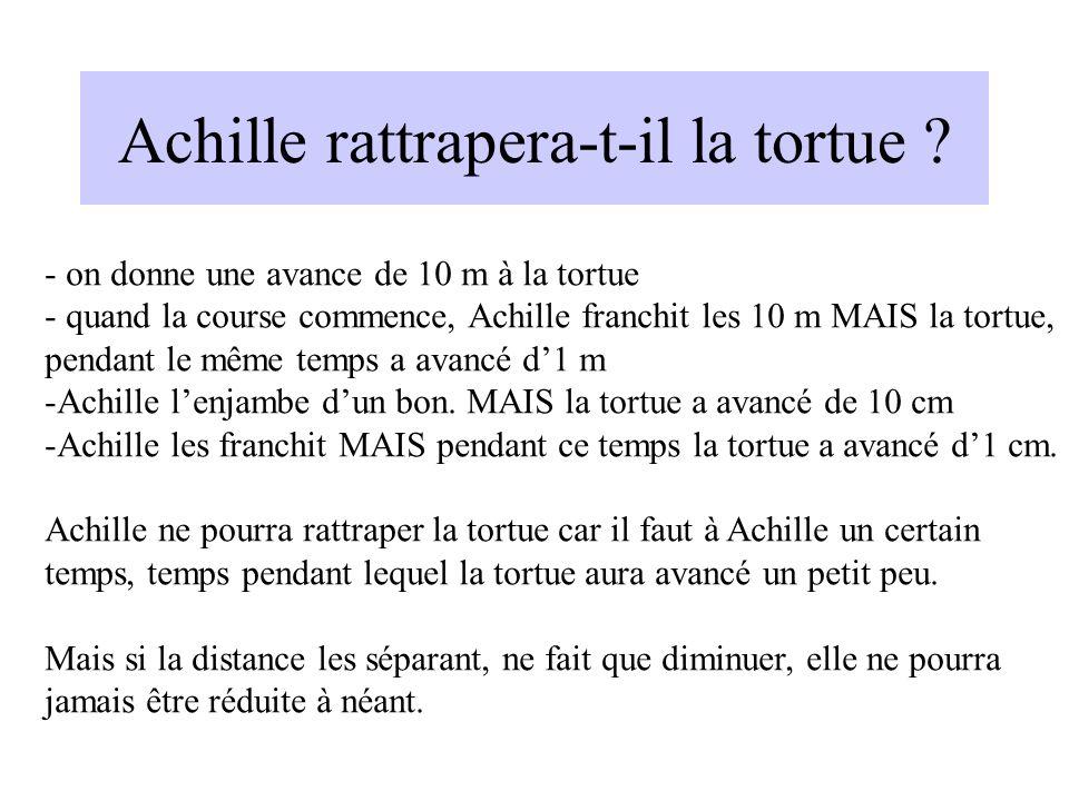 Achille rattrapera-t-il la tortue