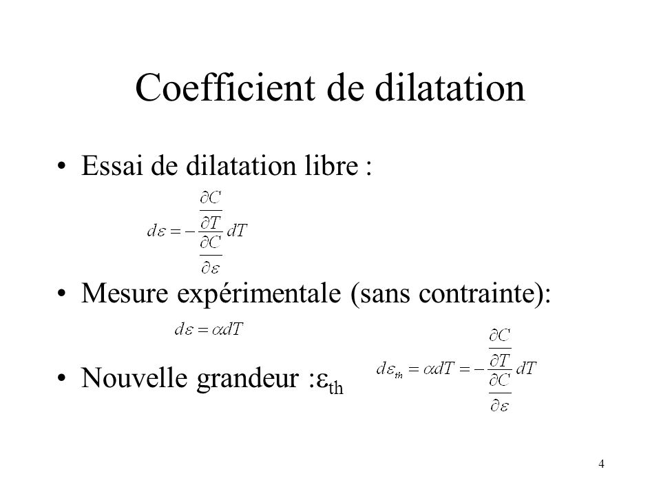 Coefficient de dilatation