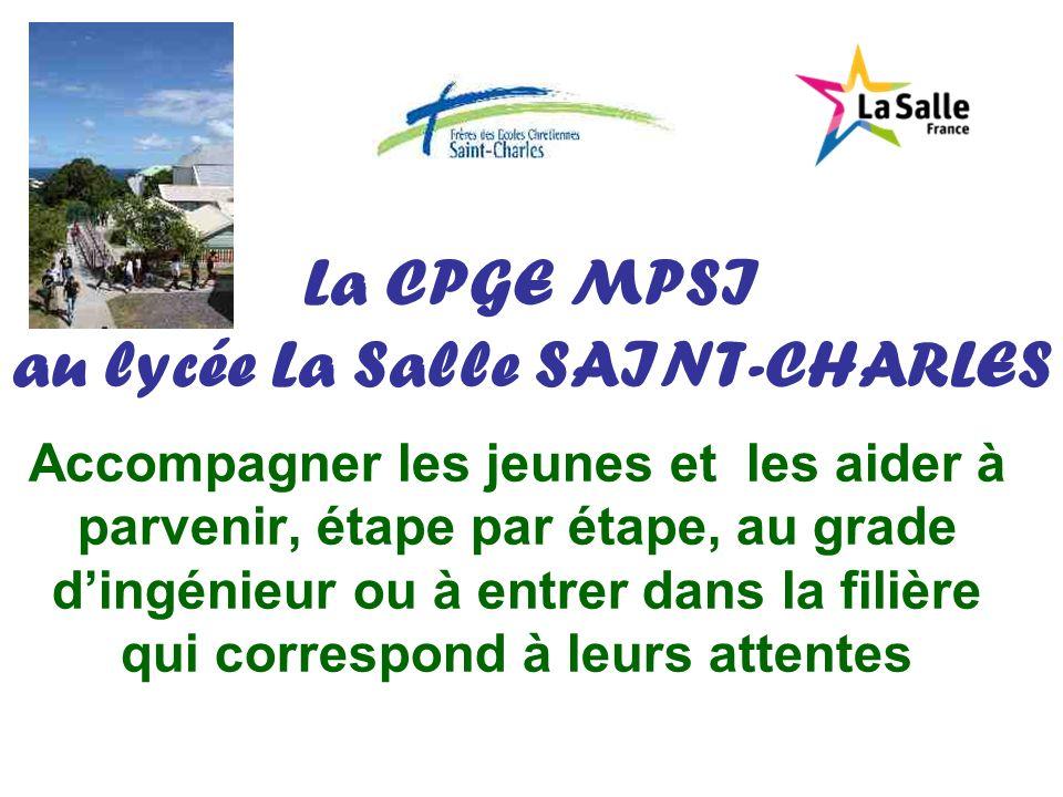 La CPGE MPSI au lycée La Salle SAINT-CHARLES