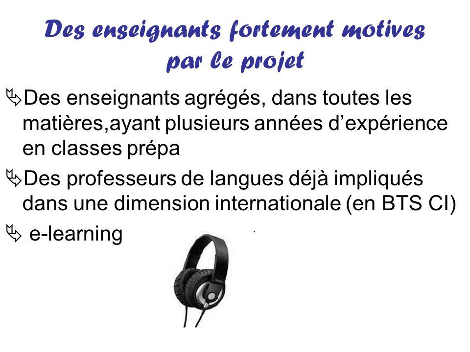 Des enseignants fortement motives par le projet