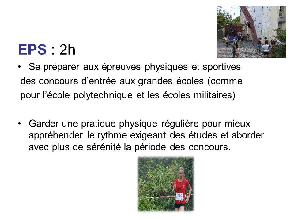 EPS : 2h Se préparer aux épreuves physiques et sportives