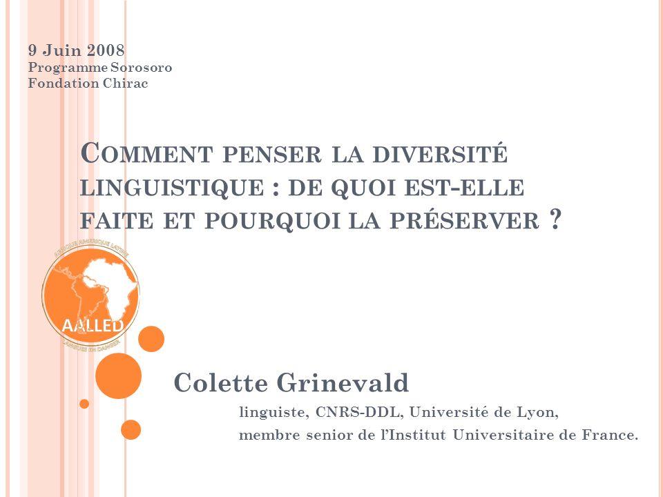 9 Juin 2008 - Sorosoro, pour que vivent les langues du Monde - Fondation Chirac