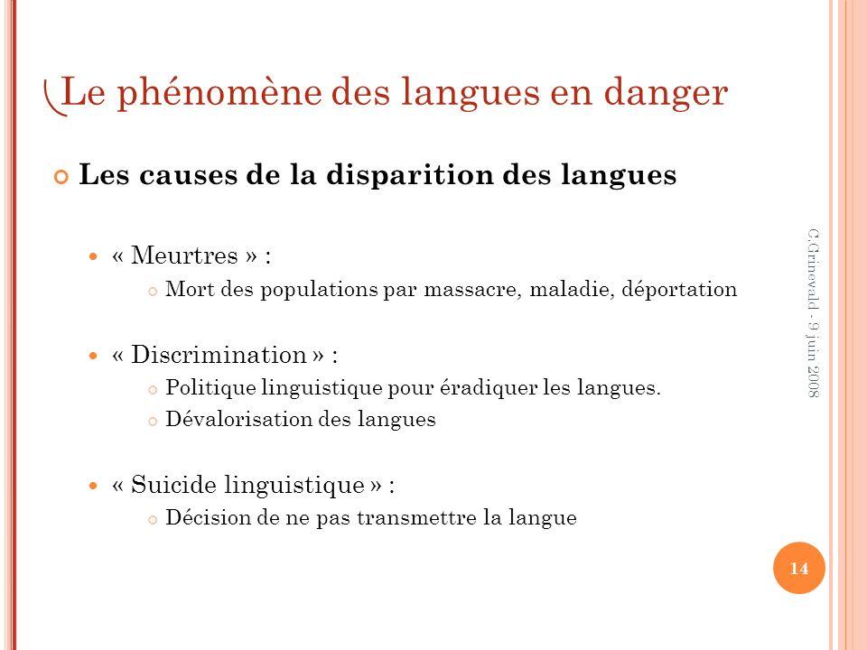 Le phénomène des langues en danger