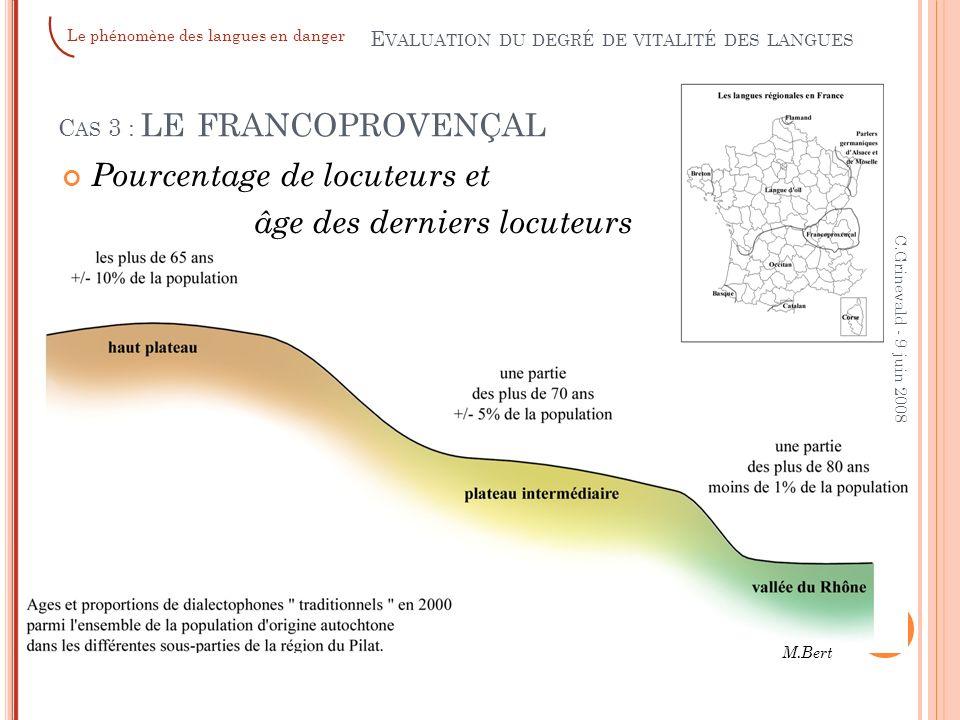 Cas 3 : le francoprovençal