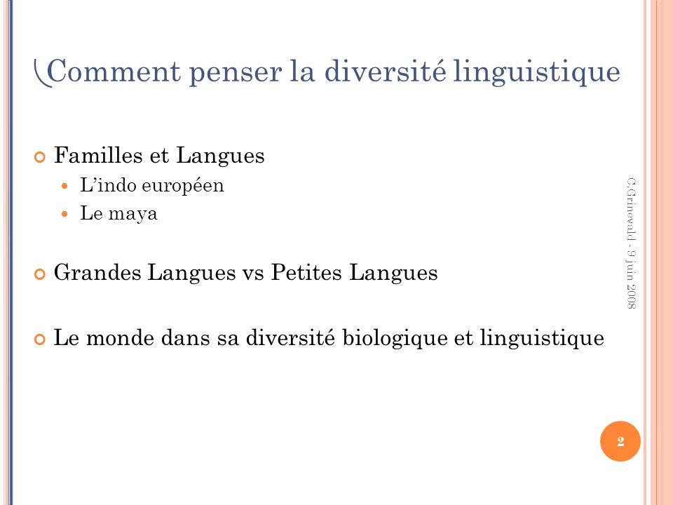 Comment penser la diversité linguistique