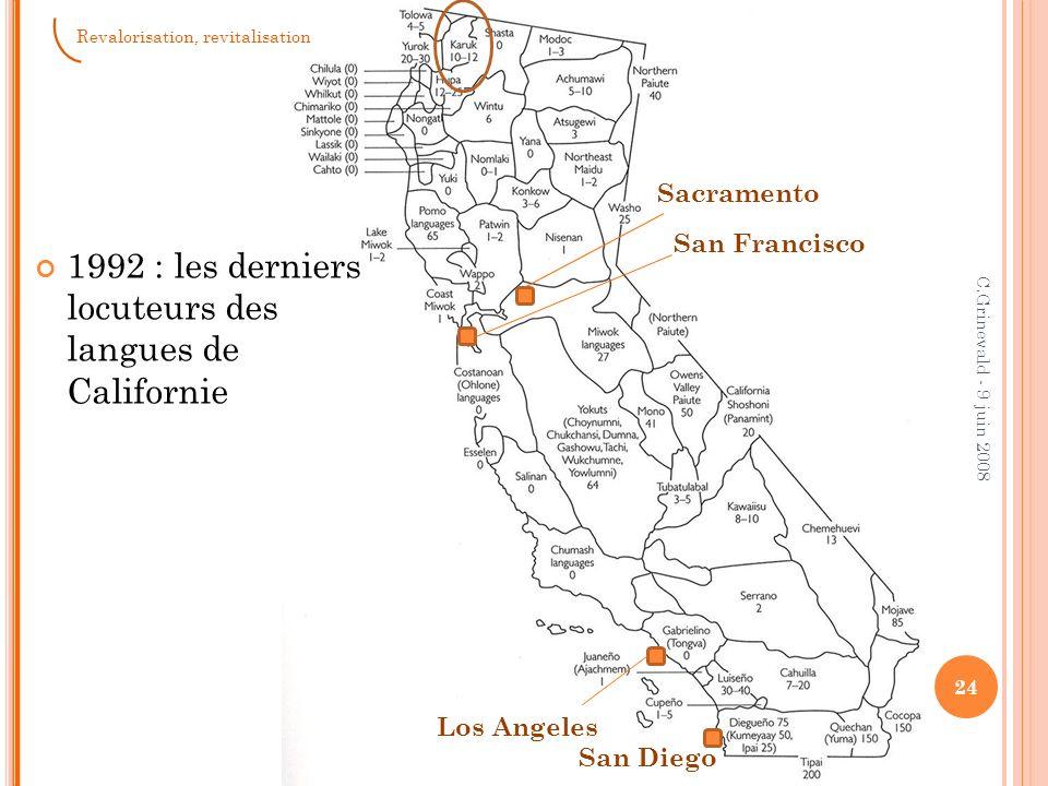 1992 : les derniers locuteurs des langues de Californie