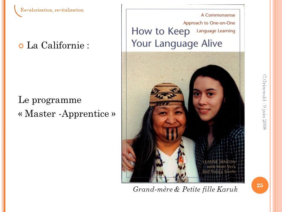 La Californie : Le programme « Master -Apprentice »