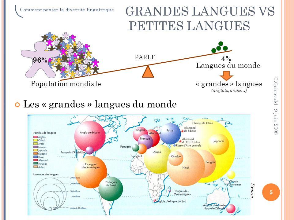 GRANDES LANGUES VS PETITES LANGUES