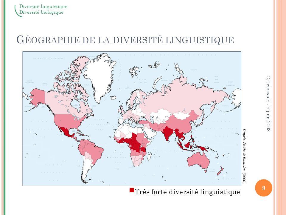 Géographie de la diversité linguistique