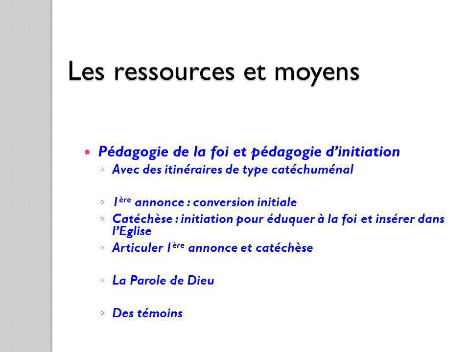 Les ressources et moyens
