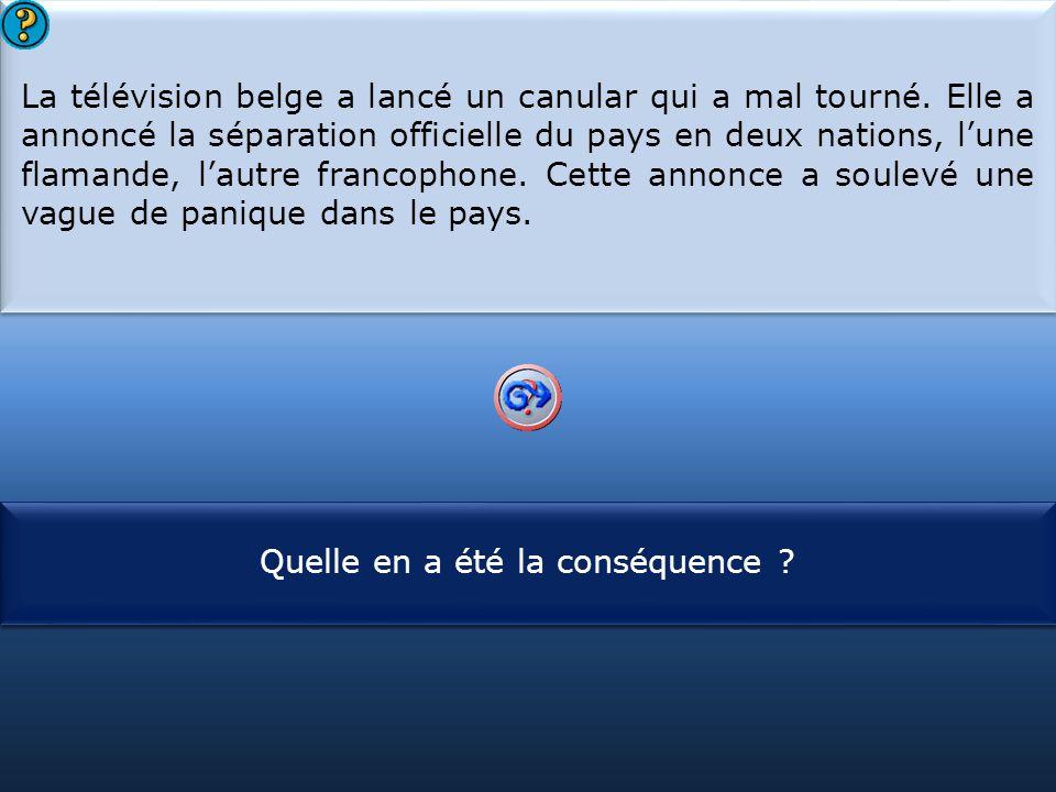 La télévision belge a lancé un canular qui a mal tourné
