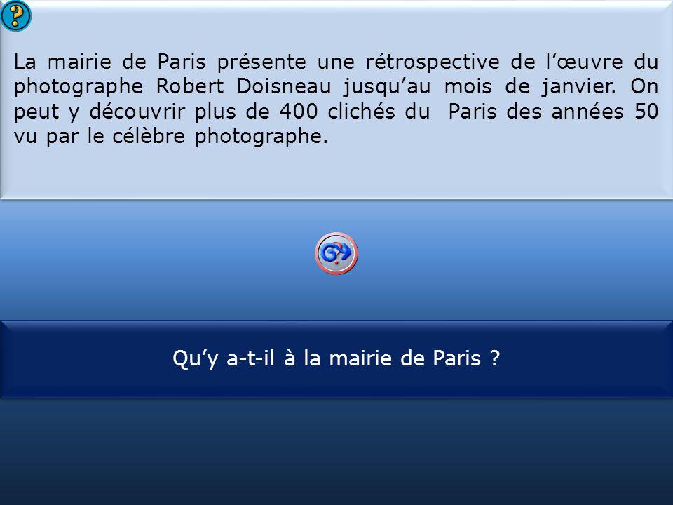 Qu'y a-t-il à la mairie de Paris