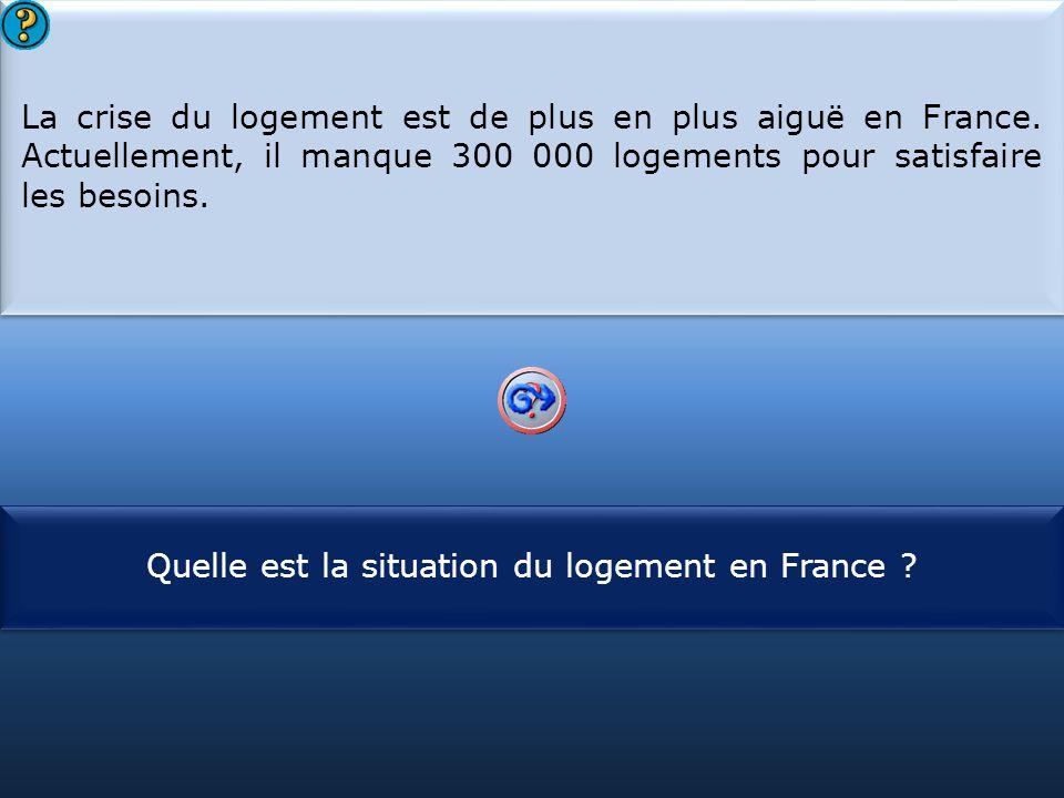 Quelle est la situation du logement en France