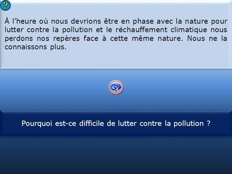Pourquoi est-ce difficile de lutter contre la pollution